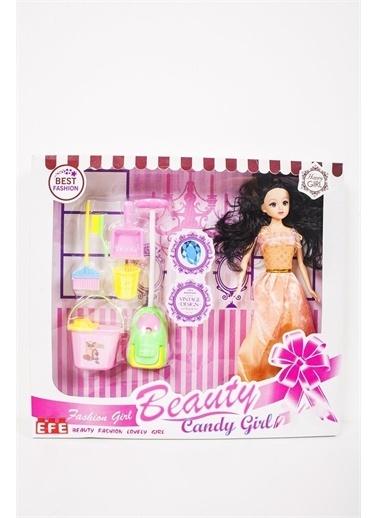 Efe Efe Oyuncak Temizlik Setli Candy Girl Bebek Mor